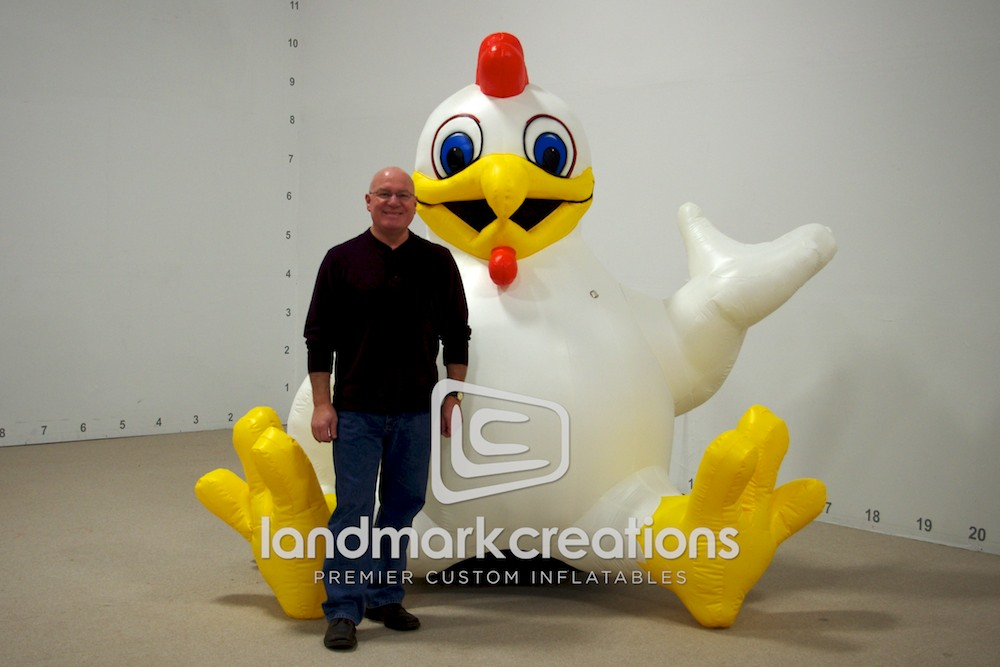 Giant Inflatable Chicken Stage Prop For The Big C On Showtime