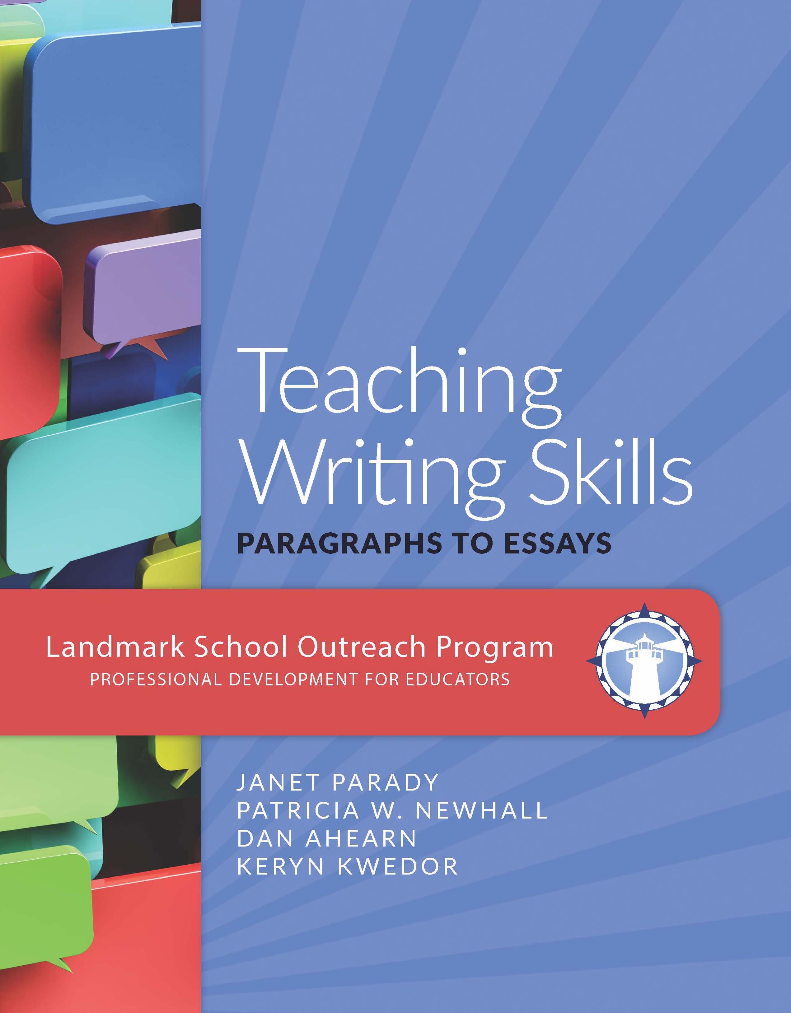 Teaching Writing Skills Paragraphs To Essays