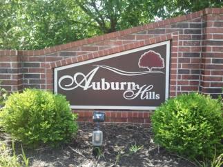 Auburn Hills Subdivision Entrance Sign