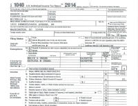 President Barack Obama 2014 IRS Federal Tax Return ...