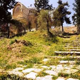 Sacred Stairway and Peter in Galicantu church (House of Caiphas)
