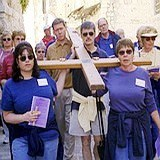 Way of the Cross procession to Calvary in Jerualem