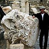 Huge Corinthian capital from Roman Beth Shean (Scythopolis) earthquake in 749 AD