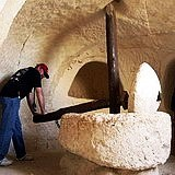 Biblical olive press at Tel Maresha excavations in Beit Guvrin