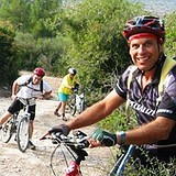 Mountain biking the Israel Trail in the Judean Hills near Jerusalem