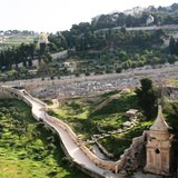 Mount of Olives from the Kidron Valley in Jerusalem