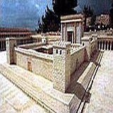 Israel Museum replica of Jerusalem 2nd Temple destroyed by Titus the Roman in 70 A.D.