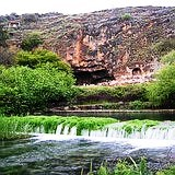 Banias or Caesarea Philippi and souce of the Jordan river