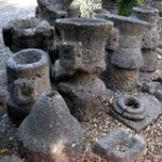 Capernaum: Millstones for grinding wheat into flour