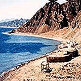 Sinai's mountainous Red Sea coastline