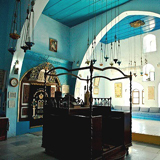 Safed: Joseph Caro synagogue interior