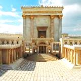 Scale model at Israel Museum of 2nd Temple destroyed by Titus the Roman in 70 A.D.