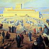 Shavuot Pentecost pilgrimage to the Temple in Jerusalem