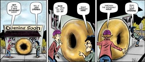 Doughnut cartoon by Brent Brown