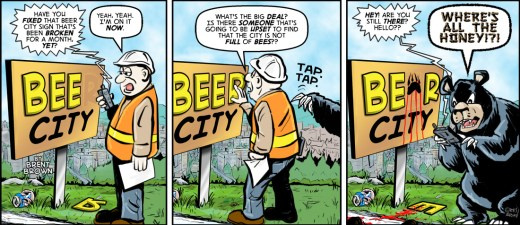 """""""Bee City 5"""" by Brent Brown"""