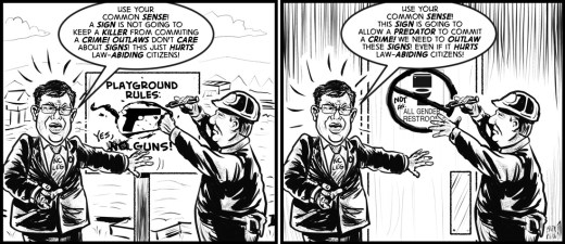 """Sign Sense"" cartoon by Brent Brown"