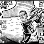 McCrory Disaster cartoon by Brent Brown