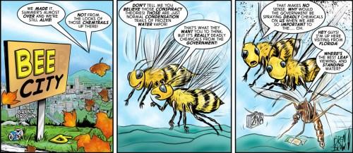 """et us Spray"" cartoon by Brent Brown"