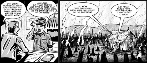 """""""after the fire"""" cartoon by Brent Brown"""