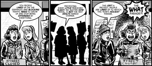 """""""line of Reasoning"""" cartoon by Brent Brown"""