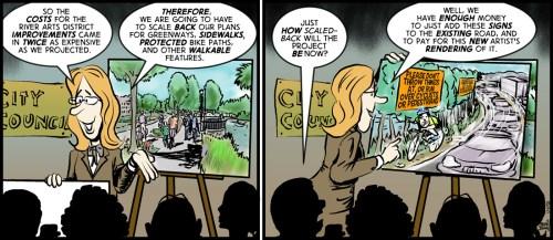 """Best Displayed Plans"" cartoon by Brent Brown"