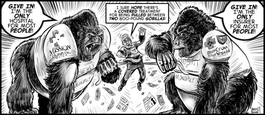 """""""War for the Plan of the Apes"""" cartoon by Brent Brown"""