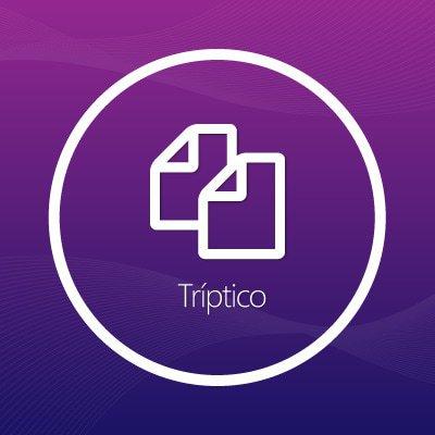 Diseño de tríptico