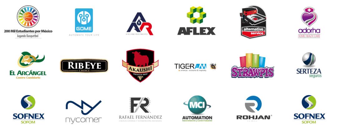 Ejemplos de diseño de logotipos en Monterrey