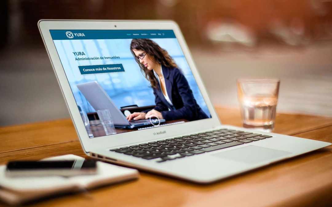 Diseño de página web para Administración de Inmuebles YURA