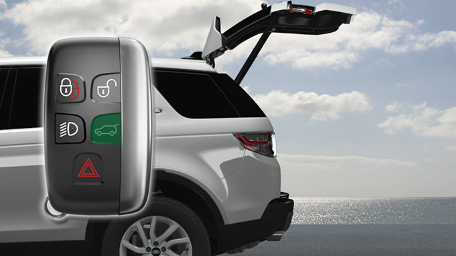 discovery sport powered tailgate land rover  [ 1820 x 1023 Pixel ]