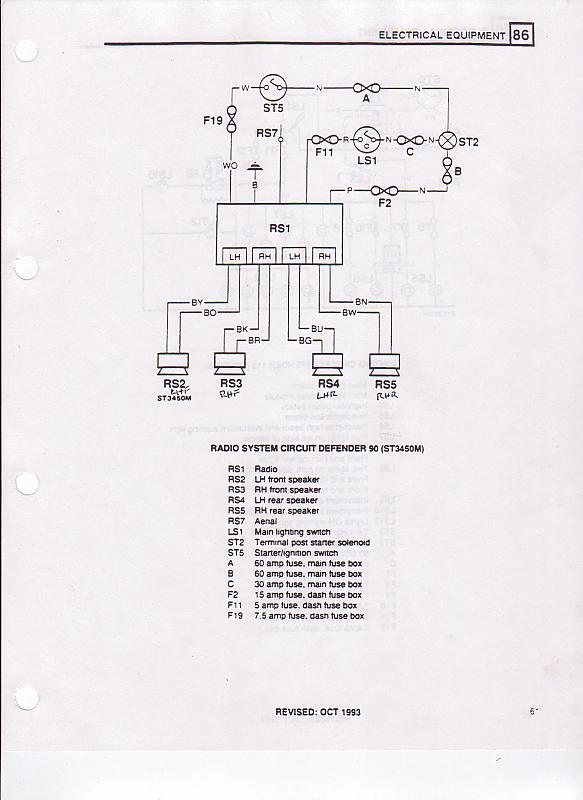 Land Rover Defender Ignition Switch Wiring Diagram