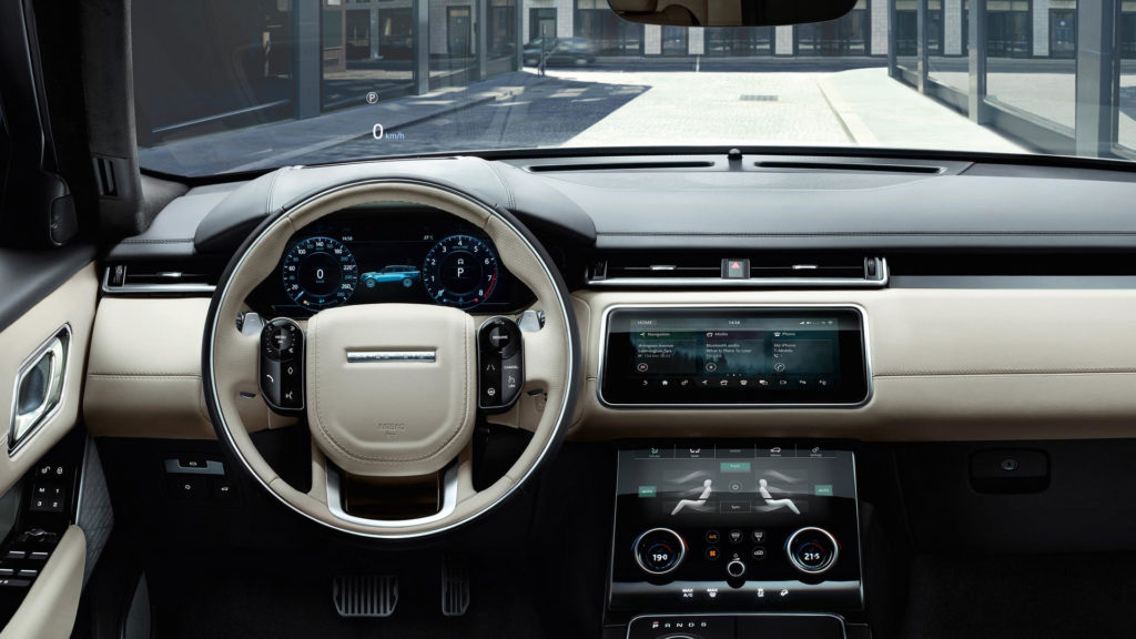 Interior design and technology of the Range Rover Velar