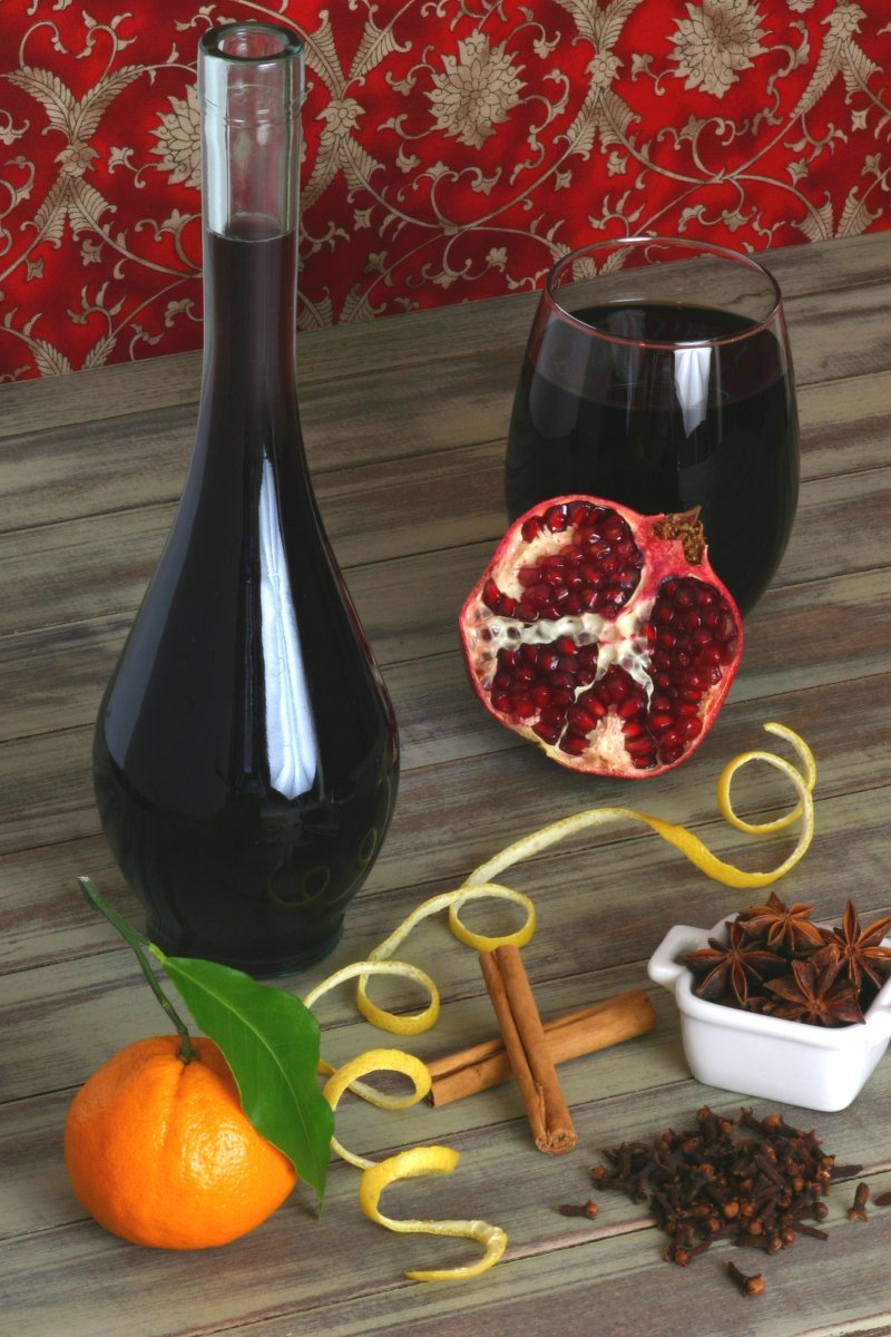 Featuring grape and pomegranate juice, spices, and citrus, this recipe for Non-Alcoholic Glühwein tastes very reminiscent of the original.
