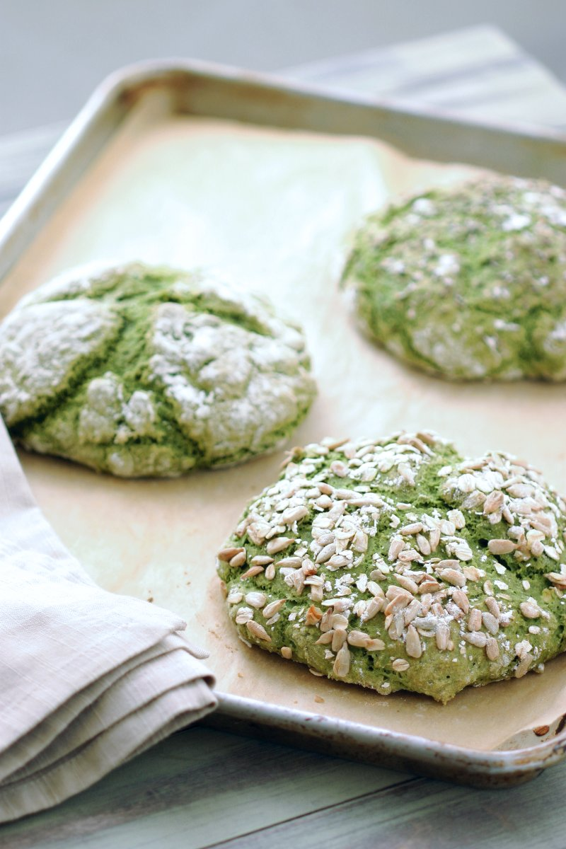This recipe for Green Irish Soda Bread is vegan, has no added fat, and features a festive, natural green color. Perfect for St. Patrick's Day!