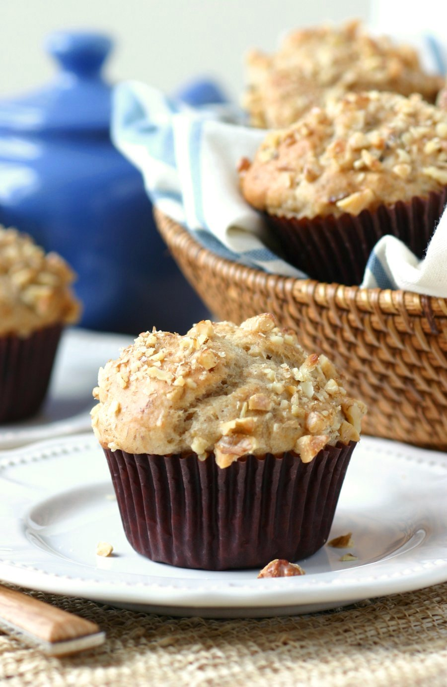 These Banana Muffins with Walnut and Anise Seed are lightly sweetened and make a perfect breakfast treat at home or on-the-go.