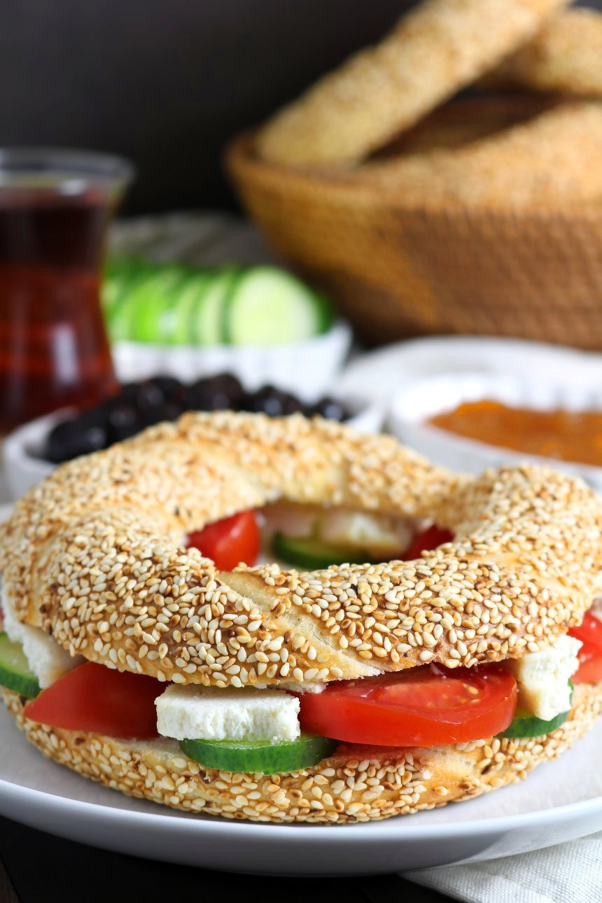 Simit is a delicious sesame bread sold in bakeries all over Turkey. It's not difficult to make them with this recipe for Homemade Simit! (Vegan)