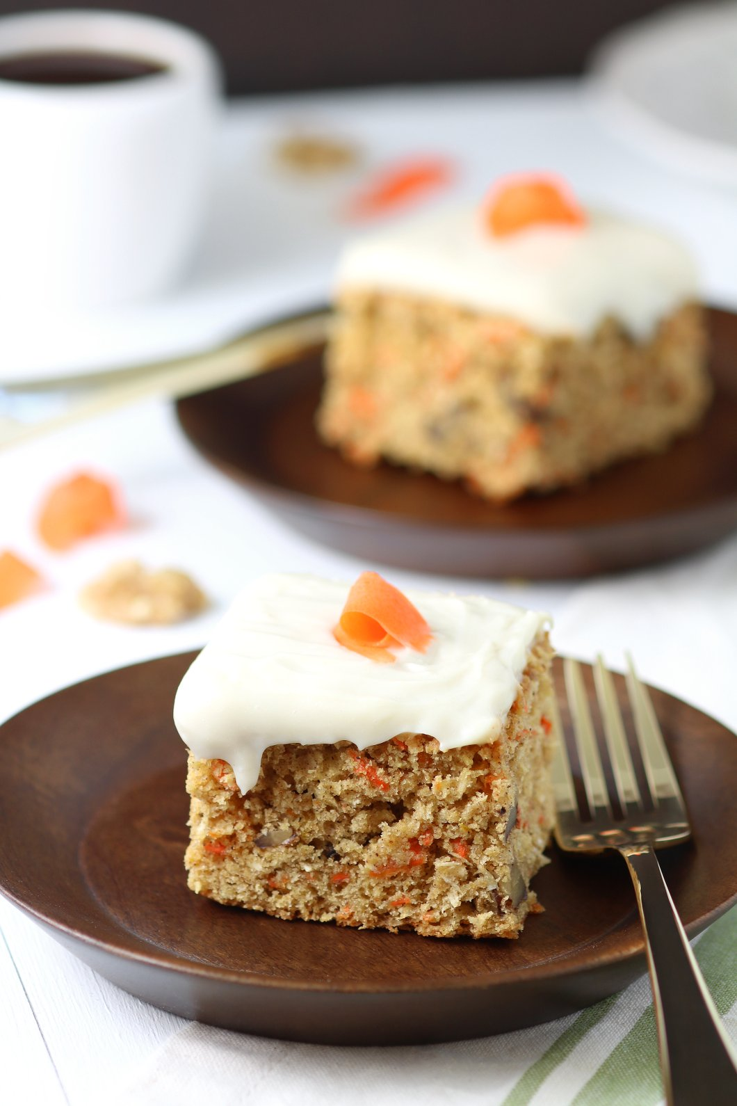 Vegan Carrot Cake With Cream Cheese Frosting Lands Flavors