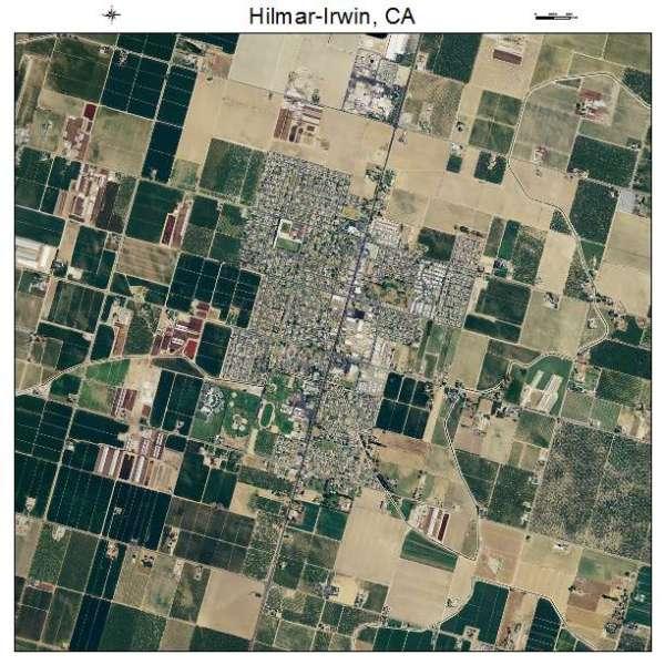 Aerial Photography Map of Hilmar Irwin CA California