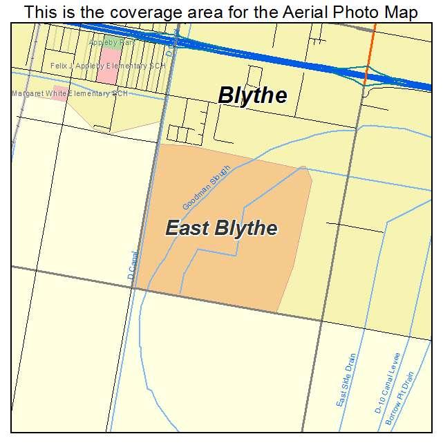 Street Map Blythe California