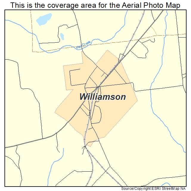 Aerial Photography Map of Williamson GA Georgia
