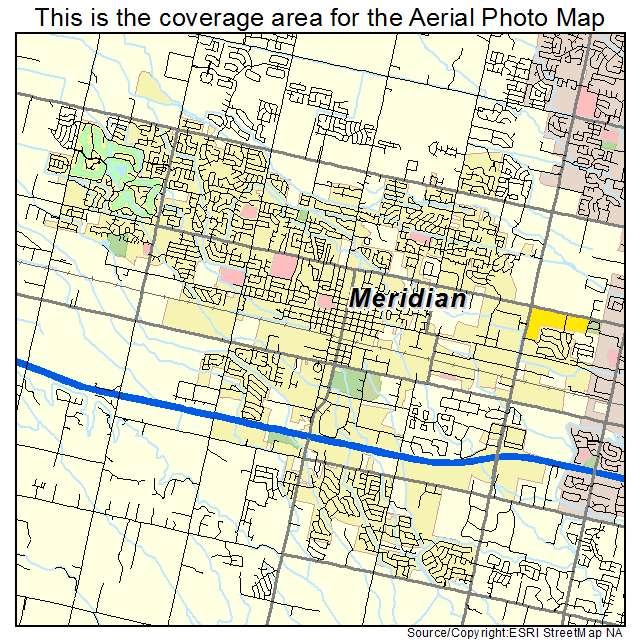 Map Meridian Idaho Usa