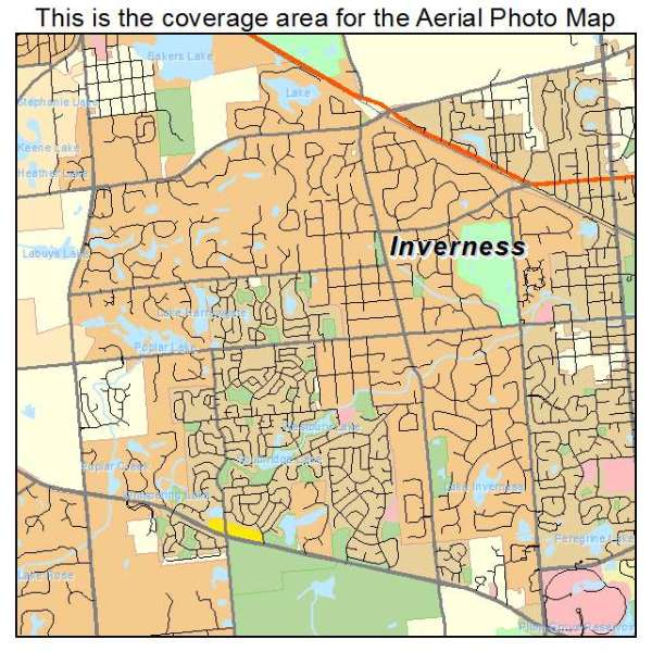 Aerial Photography Map of Inverness IL Illinois