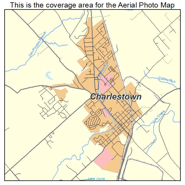 Aerial Photography Map of Charlestown IN Indiana