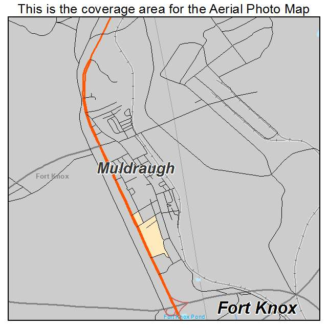 Aerial Photography Map of Muldraugh, KY Kentucky