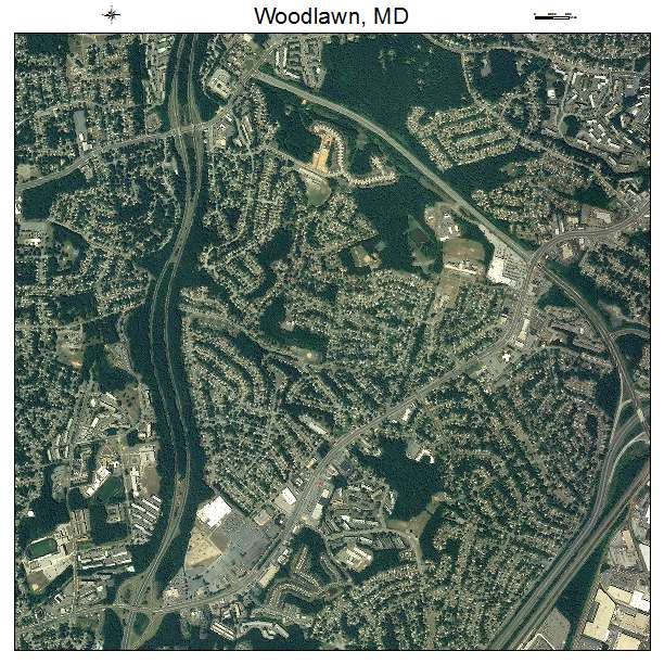 Aerial Photography Map of Woodlawn MD Maryland
