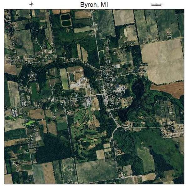 Aerial Photography Map of Byron MI Michigan