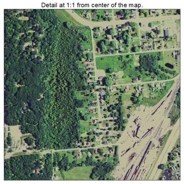 Aerial Photography Map of Gladstone MI Michigan