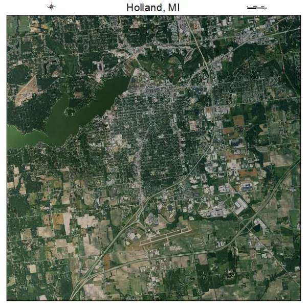 Aerial Photography Map of Holland MI Michigan