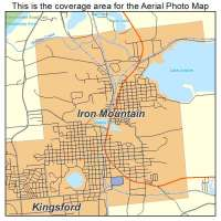 Aerial Photography Map of Iron Mountain, MI Michigan