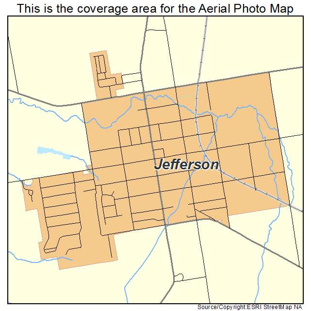 Aerial Photography Map of Jefferson OH Ohio